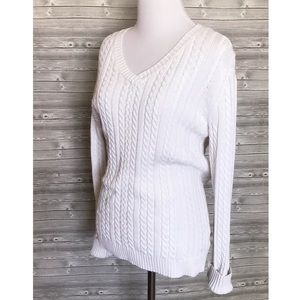 5 for $25 white knit sweater
